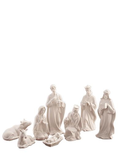 Porcelain Nativity Set (8 Pieces)