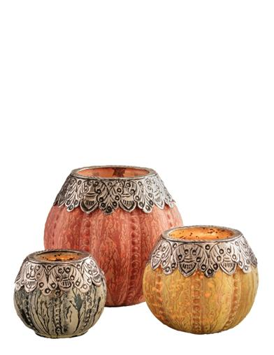 Glowing Gourds Tea Light Holders (Set Of 3)