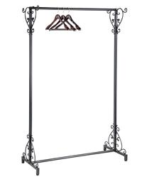 Black Versailles Clothing Rack