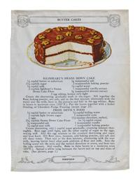 Butter Cake Recipe Tea Towel