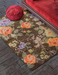 Heirloom Roses Wool Rug
