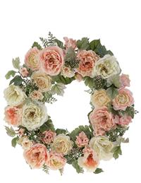 Provence Peony And Rose Wreath