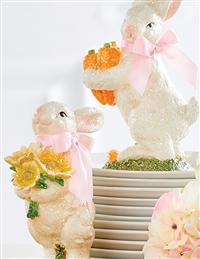 Retro Easter Rabbits (Set Of 2)