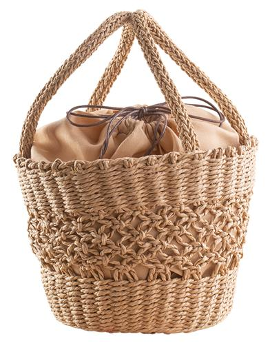 Vintage & Retro Handbags, Purses, Wallets, Bags Straw Basket Handbag $39.95 AT vintagedancer.com