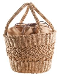 Straw Basket Handbag
