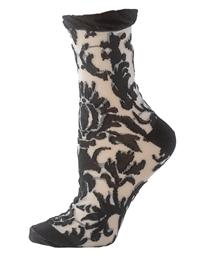 Floral Damask Ankle Socks (Set Of 2 Pairs)