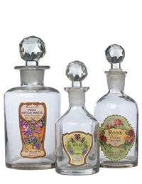 Vintage Perfume Bottles (Set Of 3)