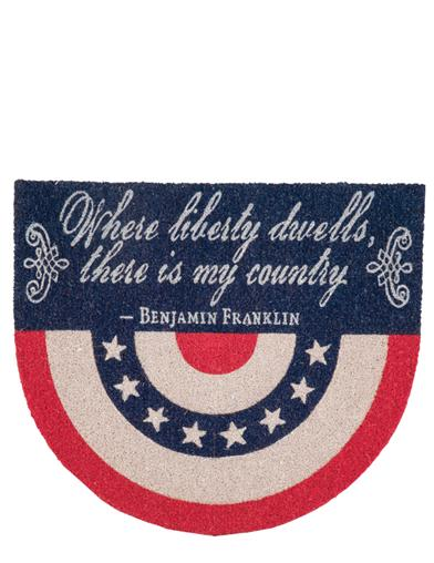 Patriot's Bunting Doormat