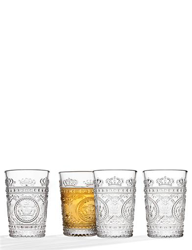 Crown Juice Glasses (Set Of 4)