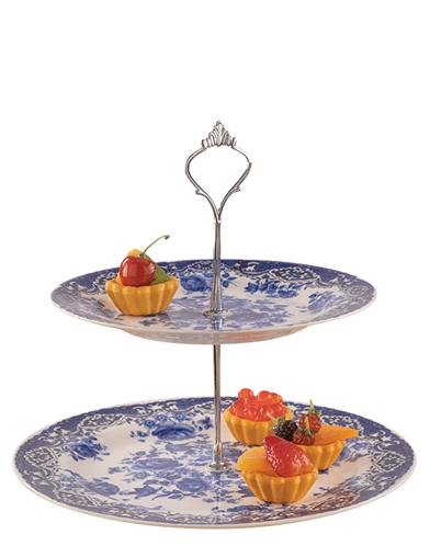 Blue Willow 2 Tier Tray