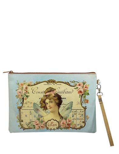 Victorian Ephemera Fairy Court Zippered Pouch