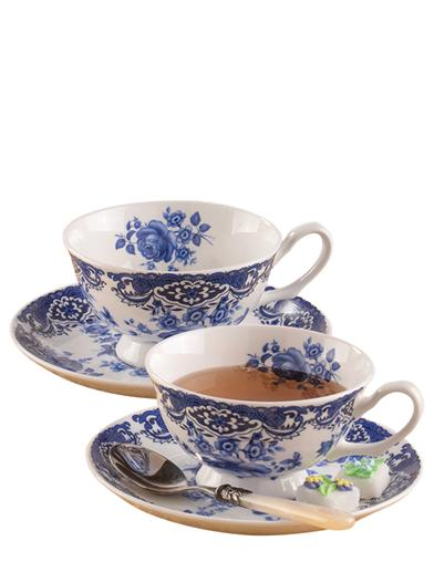 Blue Willow Teacup Set