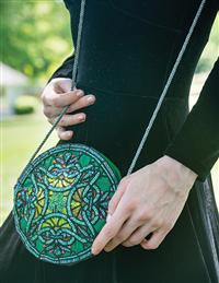 Tiffany Shamrock Beaded Bag