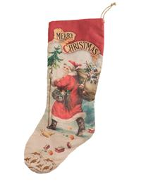 Father Christmas Stockings (Set Of 2)
