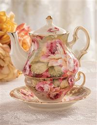 Victoria Rose Tea-for-one