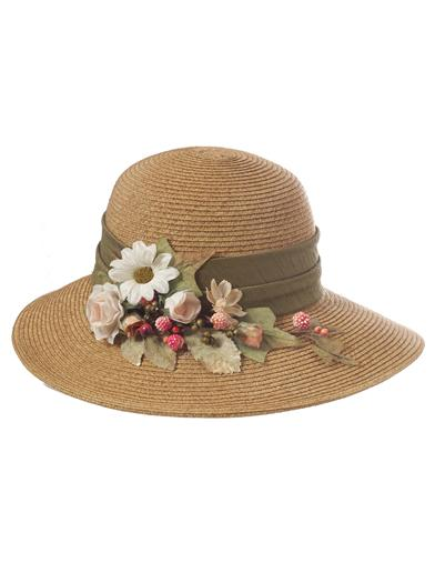 Tea Party Hats – Victorian to 1950s Carole Amper Hampton Sun Hat $79.95 AT vintagedancer.com