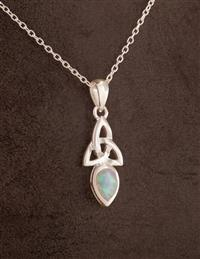 Celtic Lands Celtic Knot Opal Necklace