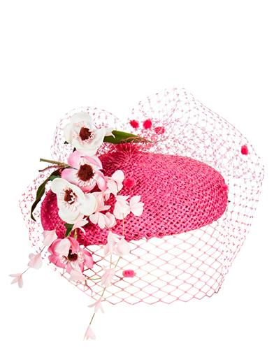 1950s Women's Hat Styles & History Cherry Blossom Fascinator $89.95 AT vintagedancer.com