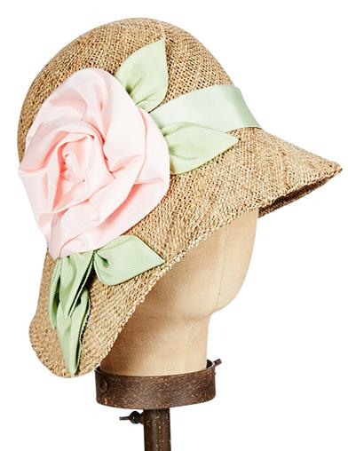 1930s Style Hats | 30s Ladies Hats Kathy Jeanne Seagrass Asymmetrical Cloche $139.95 AT vintagedancer.com
