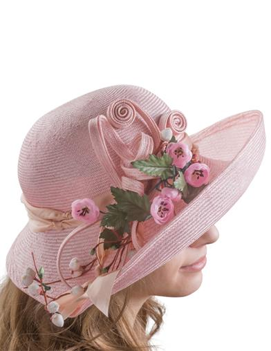 Tea Party Hats – Victorian to 1950s Pretty In Pink Hat $219.95 AT vintagedancer.com