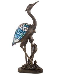 Blue Heron Tiffany Lamp
