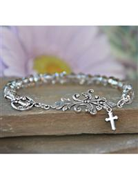 Prayer Changes Things Crystal Bracelet