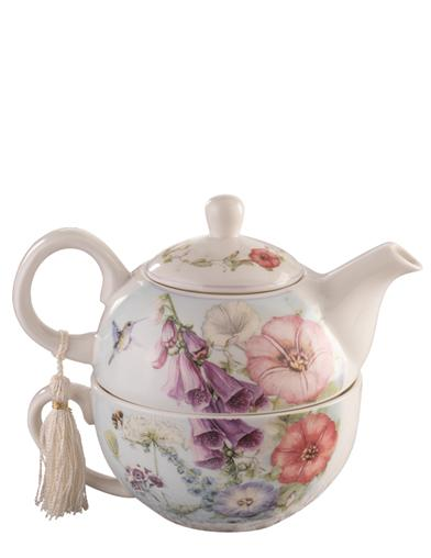 Foxglove Fair Porcelain Tea For One