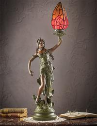 Greek Muse Tiffany Lamp