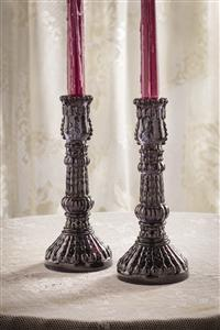 Midnight Sky Milk Glass Candle Sticks