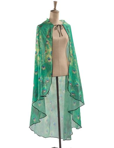 1920s Shawls, Scarves and Evening Jacket Tips Pretty As A Peacock Cape $34.95 AT vintagedancer.com