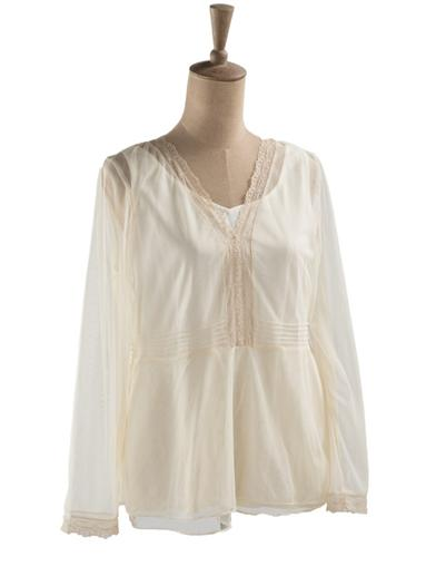 1900 -1910s Edwardian Fashion, Clothing & Costumes April Cornell Genevieve Blouse Extra Extra Large $79.99 AT vintagedancer.com