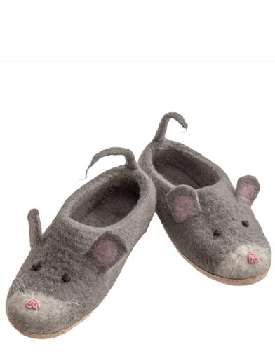 Woolen Mouse Slippers