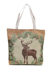 Stag Of The Winter Woods Tapestry Tote