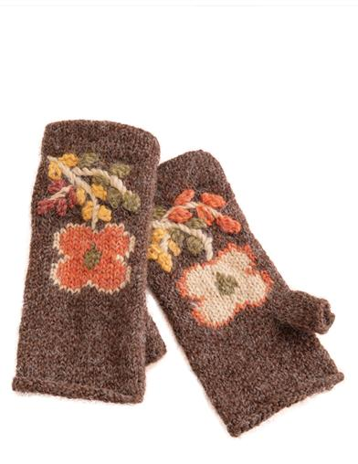 Peruvian Primrose Fingerless Gloves