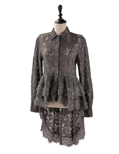 Lavish Lace Bustle Blouse