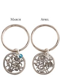 Birth Month Flower Keychain