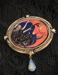 Sweet Romance Fly Me To The Moon Brooch