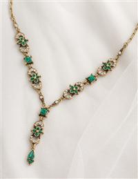 English Abbey Emerald Necklace