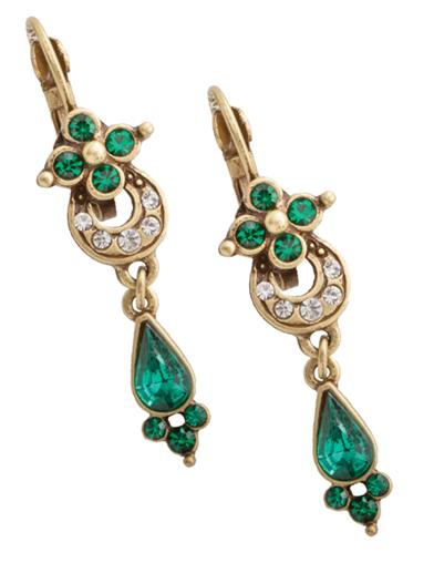 Edwardian Jewelry | Downton Abbey Earrings, Necklaces, Rings English Abbey Emerald Earrings $34.95 AT vintagedancer.com
