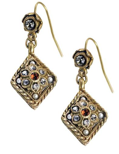Amber Haze Victorian Earrings