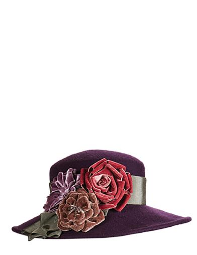 Tea Party Hats – Victorian to 1950s Kathy Jeanne Dusky Roses Hat $149.95 AT vintagedancer.com