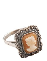 Aphrodite Hand-carved Cameo Ring