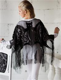 Batty Belle Fringe Poncho
