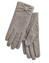 Dove Grey Wool Gloves