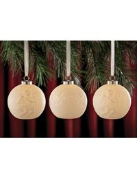 Cherub And Dove Lithophane Ornaments (Set Of 3)