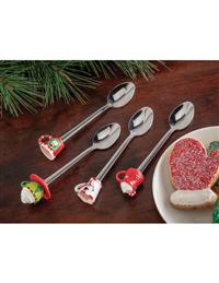 Mini Christmas Mugs Teaspoons (Set Of 4)