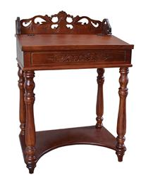 Windsor Carved Wood Writing Desk Walnut