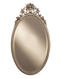 Ornate Flower Basket Mirror