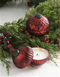 Glowing Garnet Lidded Candle