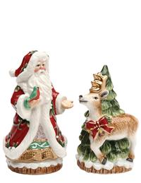 Santa & His Reindeer Salt And Pepper Set